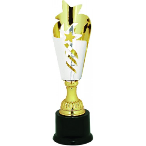 Gold Star Metal Cup Trophy On Plastic Base